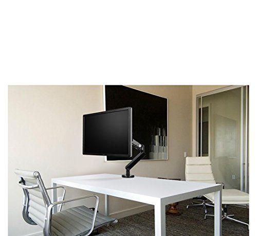 photo Wallpaper of FOINNEX-Gasfeder Monitorarm,FOINNEX Premium Aluminium Monitor Tischhalterung Mit Zwei USB 3.0 Anschlüssen, Für-black1