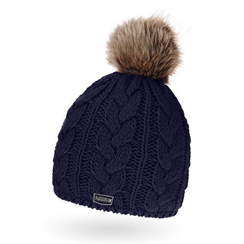 photo Wallpaper of Neverless-Neverless® Coole Herren Strickmütze Mit Bommel, Winter Mütze Bommel Aus Kunstfell Navy Unisize-Oslo navy