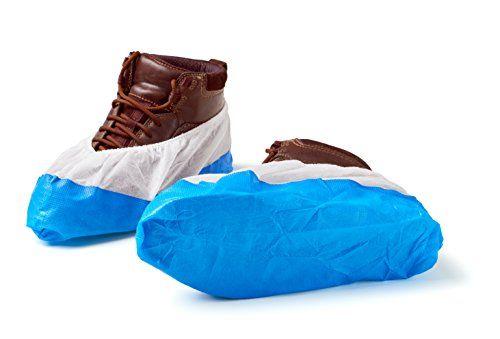 photo Wallpaper of ISC Hygiene & Safety-150 Cubiertas Para Zapato / Cubrezapatos Con Suela De 9 Gramos, Reforzada, Antideslizante,-Azul