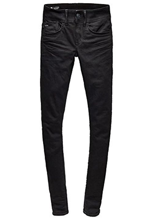 photo Wallpaper of G-STAR RAW-Lynn D Mid Super Skinny Yield Ultimate Stretch-Black Denim