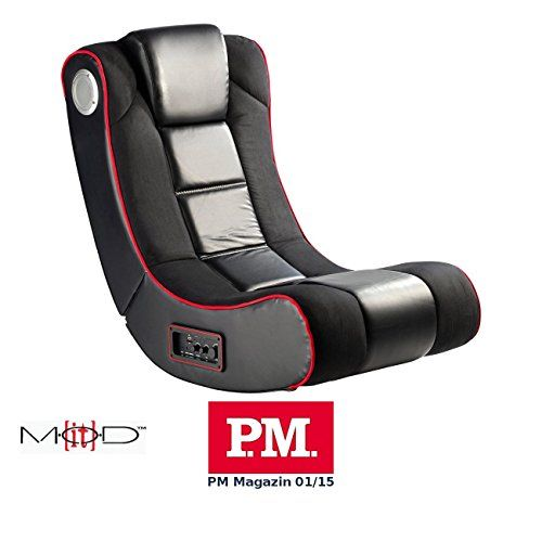 photo Wallpaper of Mod-It-Mod It Gaming Sessel: 2.1 Soundsessel Mit Vibration Für Gaming & Film, Bluetooth,-Schwarz/ Rot