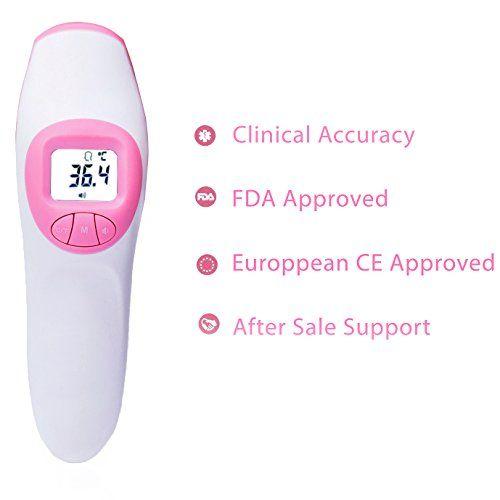 photo Wallpaper of Charry-Charry Termómetro Frontal,termómetro Digital Infrarrojo Sin Contacto, Aprobado CE Y FDA.-