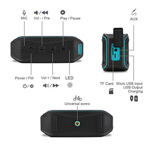 photo Wallpaper of ZENBRE-Bluetooth Lautsprecher, ZENBRE D5 Bluetooth 4.1 IPX7 Lautsprecher, 40 Stunden Spielzeit-Blau