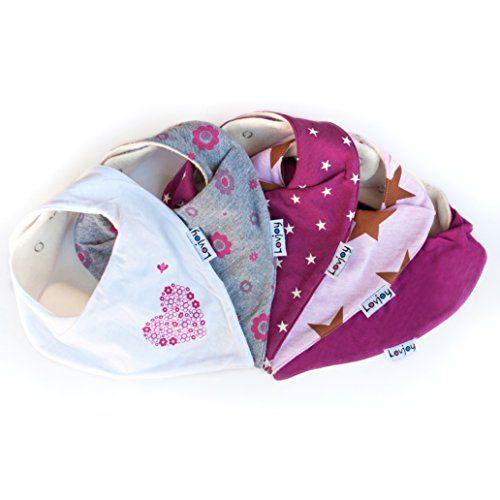 photo Wallpaper of Lovjoy-Lovjoy Baberos Del Bebé   Paquete De 5 Diseños Para Niña (Bonitos Rosas)-