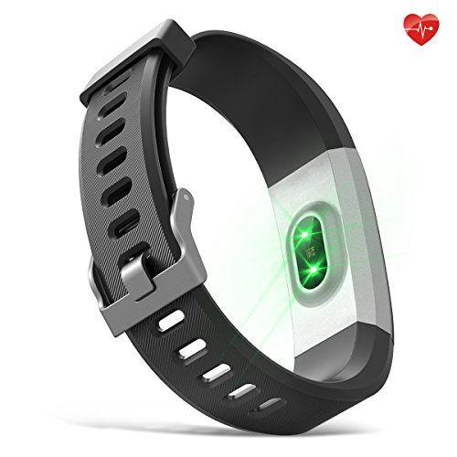 photo Wallpaper of moreFit-Herzfrequenz Monitor, MoreFit Slim HR Plus Wasserdicht Fitness Aktivitäts Tracker Tragbares Smart Armband, Schwarz-Schwarz