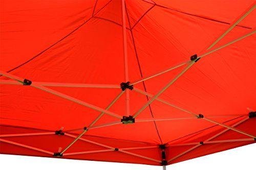 photo Wallpaper of Nexos-Nexos Falt Pavillon 3x3m Rot 2 Seitenteile PROFI Ausführung Wasserdichtes Dach-rot