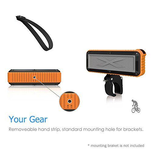 photo Wallpaper of TECEVO-TECEVO S30Outdoor Wireless Bluetooth Lautsprecher Mit Mikrofon, Robuste Spritzwassergeschützt Wasserdicht Stoßfest-S30 - Orange