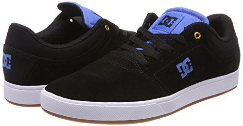 photo Wallpaper of DC Shoes-DC Shoes Herren Crisis Sneaker, Schwarz (Black/Blue Combo Xkkb), 44 EU-Schwarz (Black/Black/Blue - Combo Xkkb)