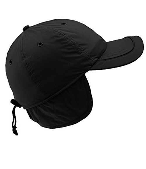 photo Wallpaper of EveryHead-Fiebig Herrenbasecap Basecap Baseballcap Cap Schirmmütze Wintermütze Wintercap Suplex Einfarbig Mit Ohrenklappen-Schwarz