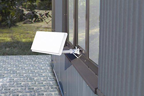photo Wallpaper of Comag-COMAG X1311 Twin Hochleistungs SAT Flachantenne Für Zwei Teilnehmer Inkl. Fensterhalterung-weiß
