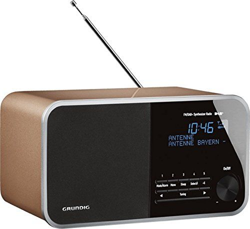 photo Wallpaper of Grundig-Grundig DTR 3000 Table Digital Radio, 30 W PMPO, AUX IN,-Oak