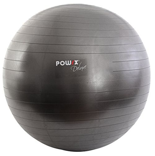 photo Wallpaper of POWRX-Pelota De Gimnasia Yoga Pilates 55 Cm, 65 Cm, 75 Cm, 85 Cm, 95-Antracita Metalizado