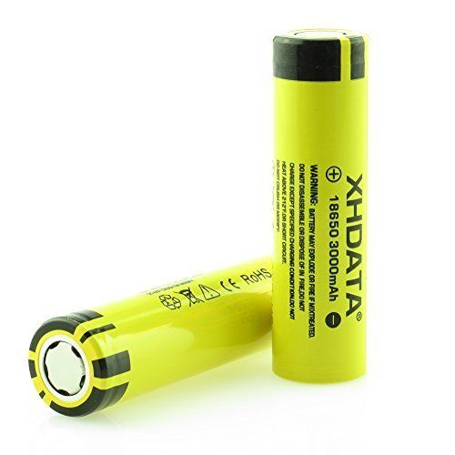 photo Wallpaper of XHDATA-XHDATA 18650 Battery 2 Pieces 3.7 V Rechargeable Batteries 3000mAh Flat-3000mah*2