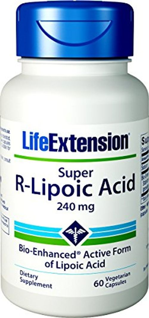 photo Wallpaper of Life Extension-Life Extension Super R Lipoic Acid (60 Vegetarian Capsules) 240mg-