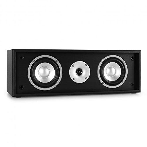 photo Wallpaper of auna-Auna Linie 300 CN BK Center Lautsprecher 35 W RMS Passiv, Schwarz-Schwarz