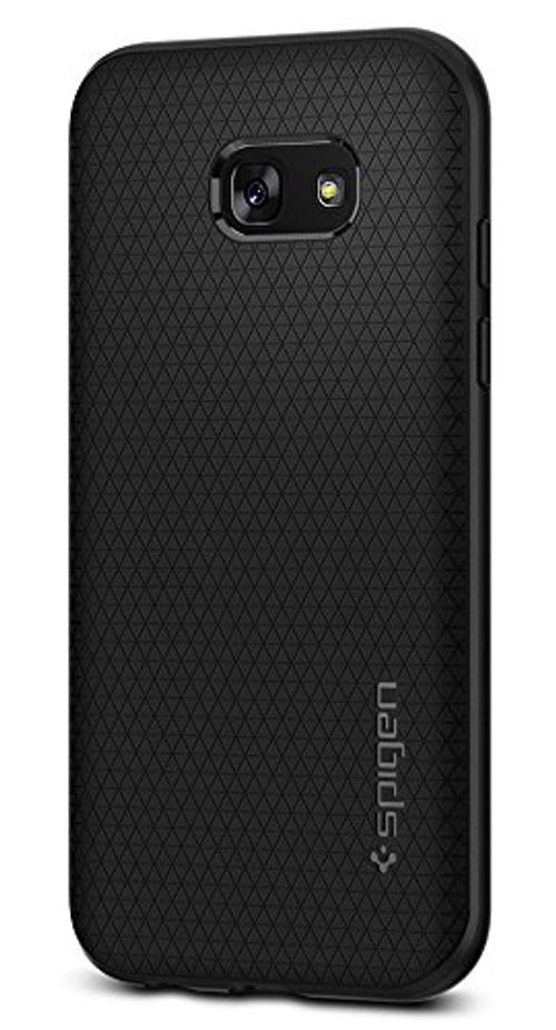 photo Wallpaper of Spigen-Samsung Galaxy A5 2017 Hülle, Spigen® [Liquid Air] Soft Flex Silikon [Schwarz]-Einfarbig