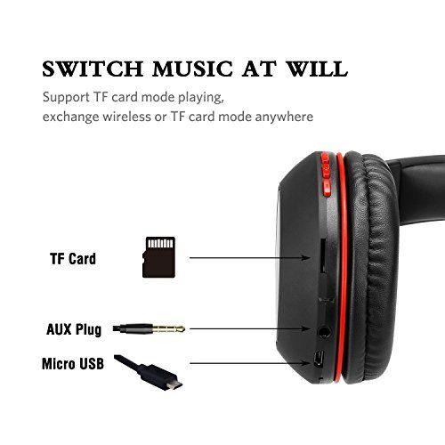 photo Wallpaper of Ausdom-Bluetooth Kopfhörer, Ausdom Wireless Faltbar Over Ear HiFi Stereo Headset-Schwarz