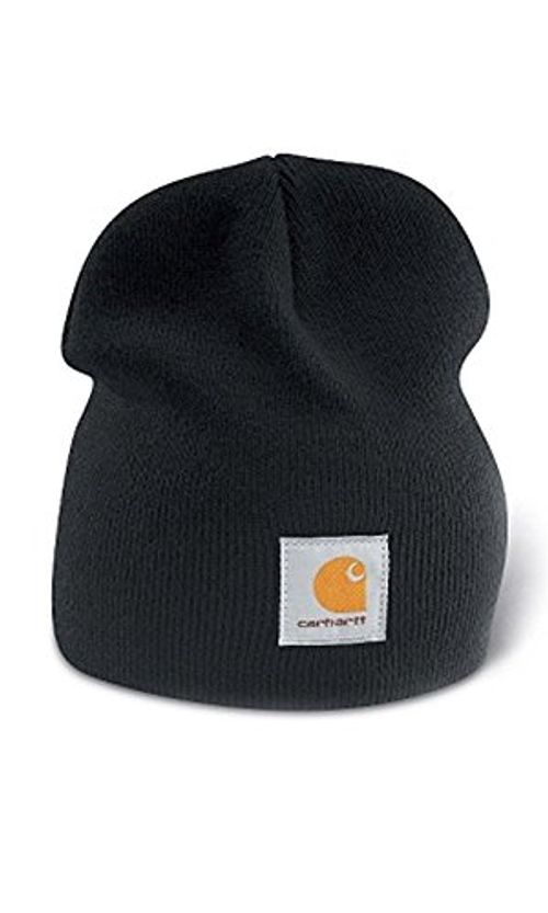 photo Wallpaper of Carhartt-Carhartt A205 Strickbeanie Cap Schwarz Mützen Hüte Beanie Hut-Schwarz