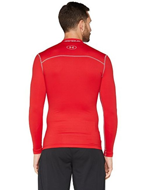 photo Wallpaper of Under Armour-Under Armour Herren UA CG Armour Mock Fitness Sweatshirts, Red/Steel, S-Red/Steel