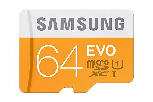 photo Wallpaper of Samsung-Samsung Memory 64GB EVO Micro SDXC UHS I Grade 1 Class 10-Orange, Weiß