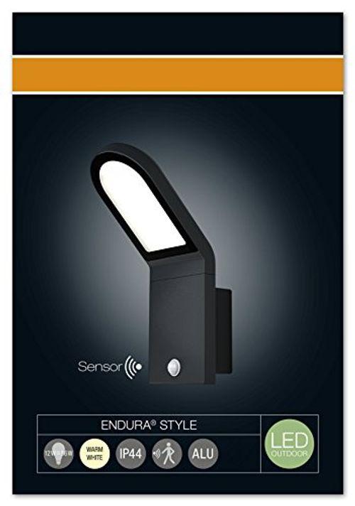 photo Wallpaper of Osram-Osram LED Außenleuchte, Endura Style Wall, Aluminiumkörper, Bewegungssensor, Tag Nacht Sensor, Dunkelgrau,-Dunkelgrau