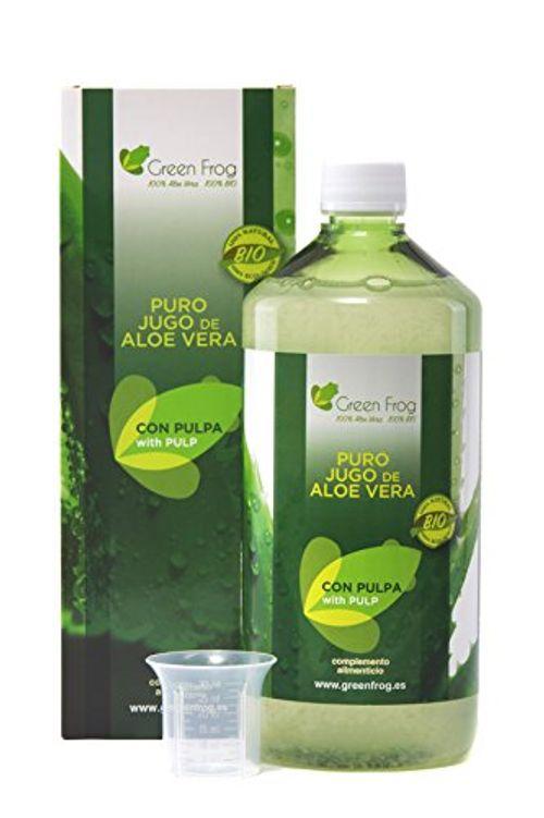 photo Wallpaper of Green Frog-Green Frog. Jugo De Aloe Vera Ecológico Con Pulpa. 100% Fresco Y Natural.-
