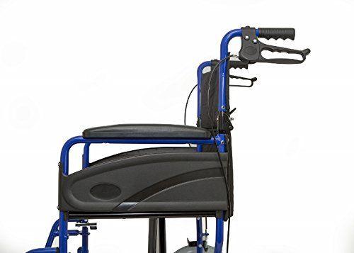 photo Wallpaper of RHealthcare-Dash Express Ultra Ligero, Fácil Plegable Silla De Ruedas – Pesa Sólo 9,8-azul