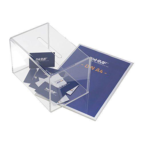 photo Wallpaper of HMF-HMF 46916 Spendenbox, Aktionsbox, Losbox, Acryl Din A4 Blatteinschub, 22 X-