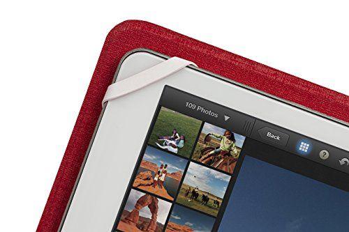 """photo Wallpaper of RivaCase®-RivaCase® Tablet Case Bis 10.1"""" – Sehr Flache Hülle Mit Zwei-Weiß/Rot"""
