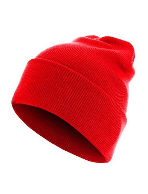 photo Wallpaper of Hatstar-Long Beanie Reversible Strickmütze 2 In 1 Wintermütze In 42 Farben (classic Red)-Classic Red