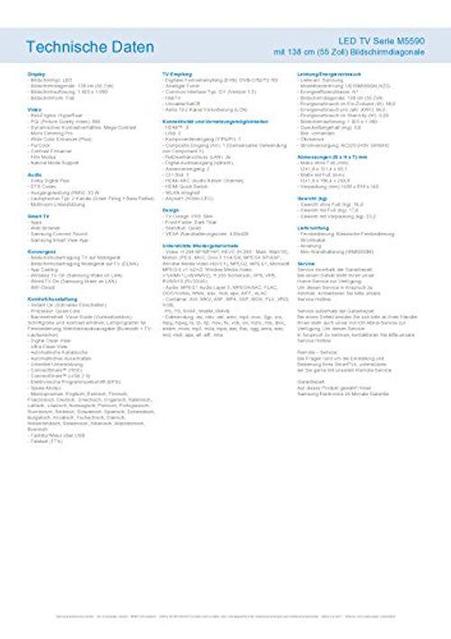 photo Wallpaper of Samsung-Samsung M5590 138 Cm (55 Zoll) Fernseher (Full HD, Triple Tuner, Smart TV)-Dark Titan