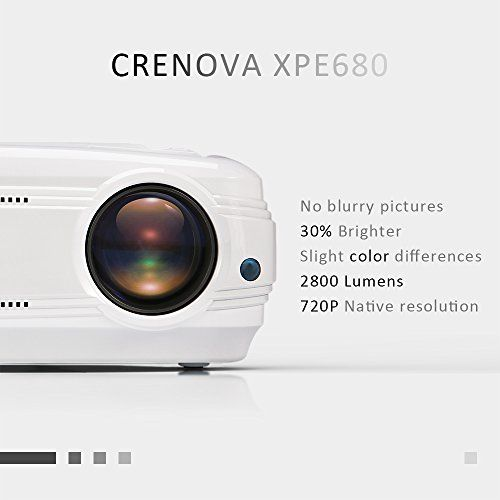 photo Wallpaper of Crenova-Video Beamer, Crenova XPE680 720P Multimedia Beamer, Heimkino Unterstützt 1080P-Weiß