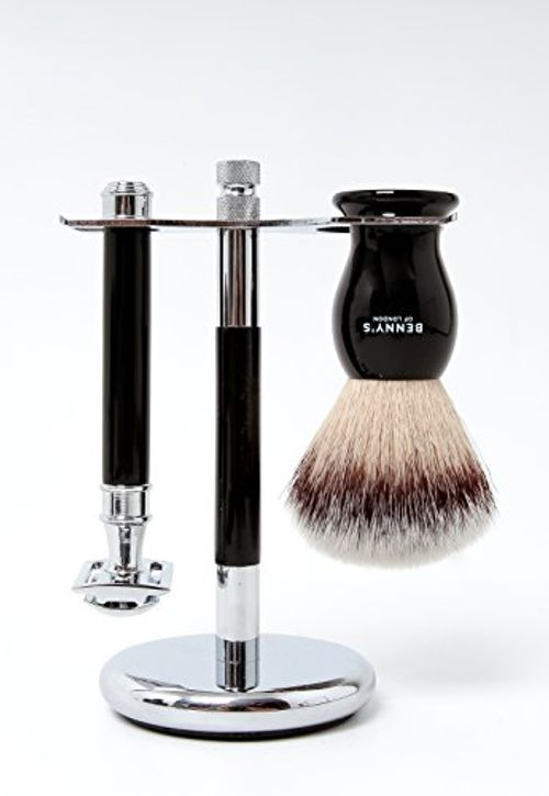 photo Wallpaper of Benny's of London-SOPORTES DE AFEITADO   Men's Shave Stand For Your Shaving Brush And Safety-