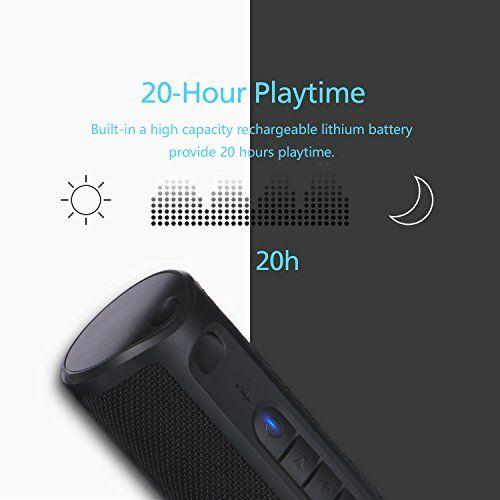 photo Wallpaper of ZENBRE-Bluetooth Lautsprecher,ZENBRE Z4 True Wireless Stereo Wasserdicht IPX4 Lautsprecher, Verstärkte Bässe Mit-Dark Black