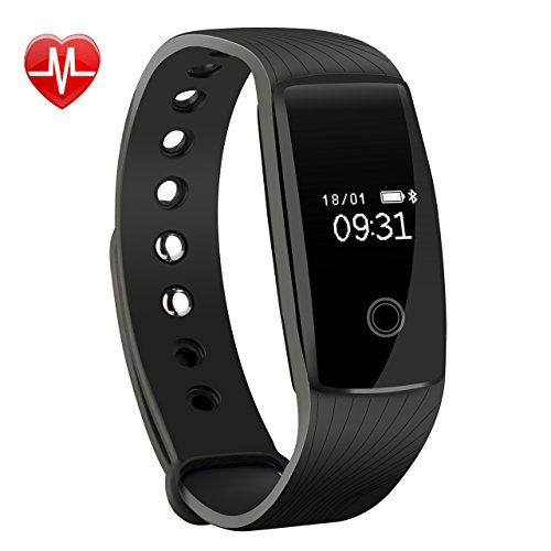 photo Wallpaper of Mpow-Mpow Bluetooth 4,0 Fitness Armbänder Mit Pulsmesser,Smart Fitness Tracker Mit-Schwarz