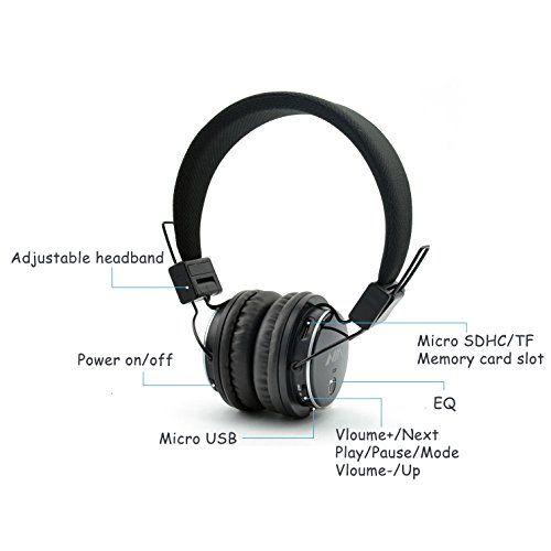 photo Wallpaper of Aitalk-Tragbare Wireless Bluetooth Kopfhörer über Ohr, Aitalk Q8Stereo Faltbar Headsets Mit-hellblau
