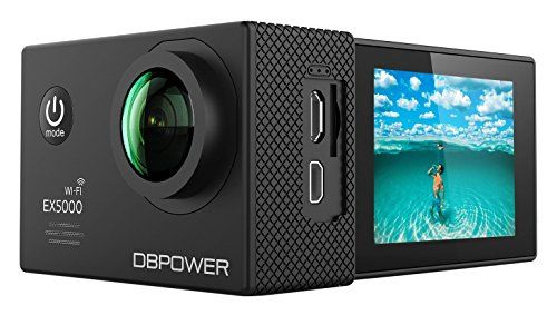 photo Wallpaper of DBPOWER-DBPOWER EX5000 Action Cam Wifi Unterwasserkamera 1080P Camera 14MP Ultra Full HD-schwarz