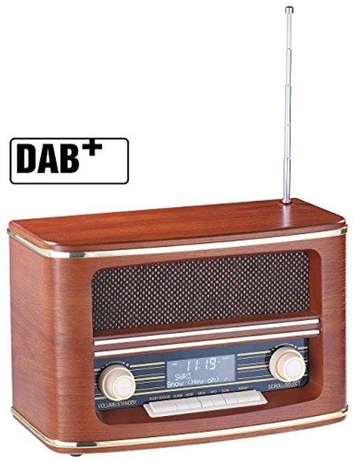 photo Wallpaper of auvisio-Auvisio Digitalradio Nostalgie: Digitales Nostalgie Stereo Radio Mit DAB+, Bluetooth 3.0,-braun