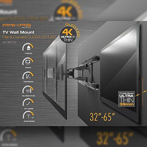 photo Wallpaper of Arkas-Arkas LKT 265 T CZ Neigbare Schwenkbare Drehbare Wandhalterung Für OLED/LCD/LED/3D Fernseher 81,3 165-Schwarz