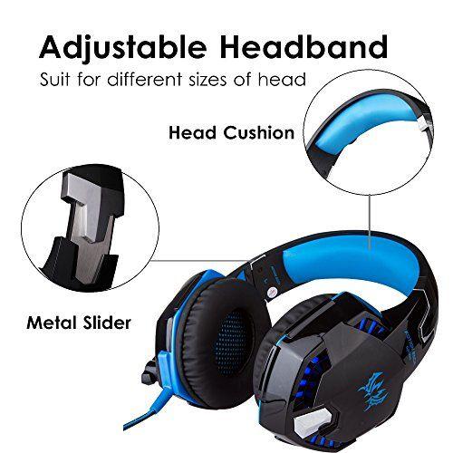 photo Wallpaper of ArkarTech-Headset Gaming PC ArkarTech Mikrofon Kopfhörer Gamer Ultra Leichtes Einstellbare-Blau