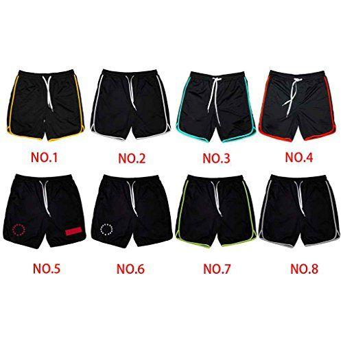 photo Wallpaper of GOTTING-GOTTING Männer Fitness Sweat Shorts Laufhose Atmungsaktiv Hose Athletischer Sport Elastischer-schwarz mit roten Vorzeichen