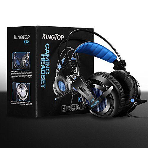 photo Wallpaper of KINGTOP-Gaming Headset PS4 Xbox KingTop K12 Stereo Kopfhörer Mit Mikro-