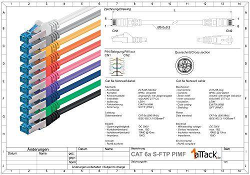 photo Wallpaper of 1aTTack.de-CAT 6 Ethernet LAN Netzwerkkabel, 2m, Grau, 10Stück, Set, 10/100/1000/10000MBit/s, Patchkabel,-grau - 10 Stück