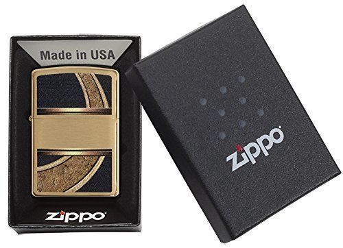 photo Wallpaper of Zippo-Zippo Gold & Black   Mechero-High Polish Brass