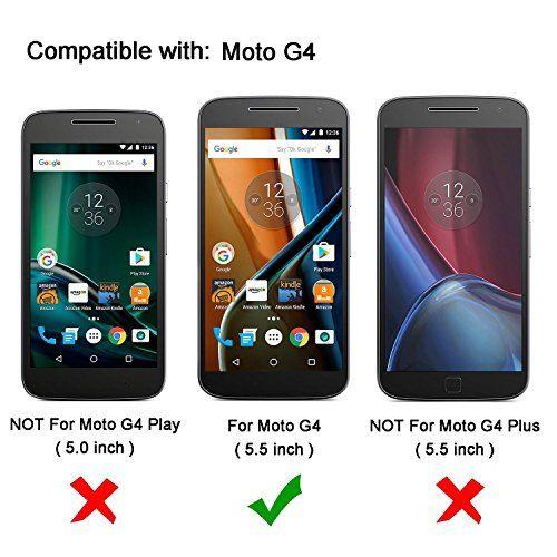 photo Wallpaper of OMOTON-[2 Stück] OMOTON Panzerglas Displayschutzfolie Für Motorola Moto G4, Anti-Geh�rtetes Glas
