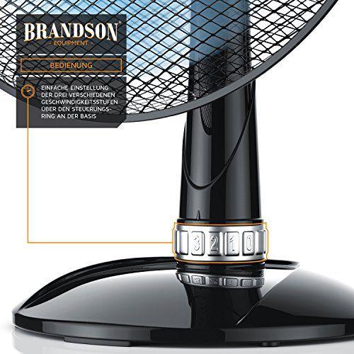 photo Wallpaper of BRANDSON-Brandson   Tischventilator 35cm | Tisch Ventilator Mit 3 Leistungsstufen | Leistungsaufnahme-Schwarz
