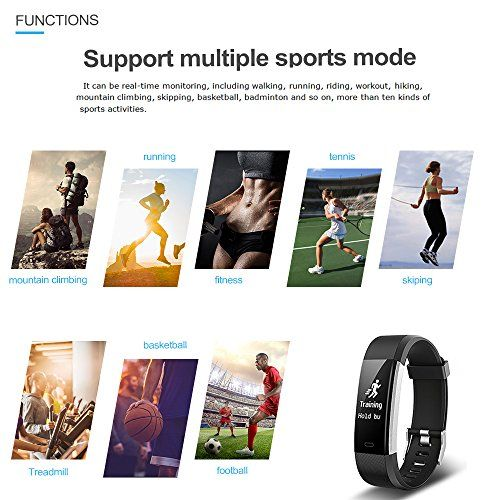 photo Wallpaper of EFOSHM-EFOSHM ID115plus HR Smart Armband,Fitness Tracker, Bluetooth 4.0 Fitness Armband, Unterstützung Ios7.1 Oben Android4.4-schwarz