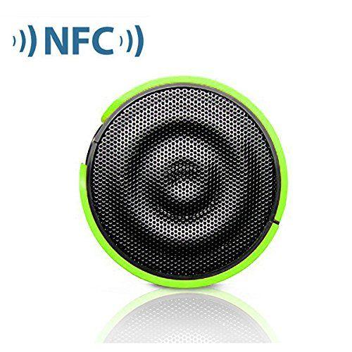 photo Wallpaper of first2savvv-First2savvv Grün Wireless Stereo Lautsprecher NFC Bluetooth Lautsprecher Mit Austauschbaren-mit blau Mini-LED-Lampe