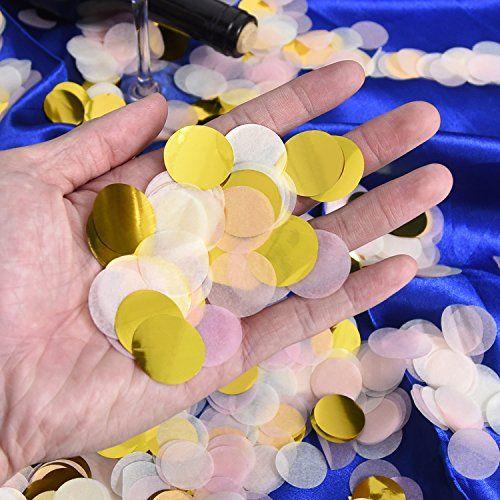 photo Wallpaper of Outus-1 Zoll Papier Konfetti Runde Tissue Konfetti Party Kreis Papier Tabelle Konfetti, 6000-mehrfarbig