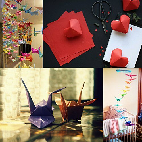 photo Wallpaper of ULTNICE-Faltpapier Origami Papier 15x15 Für DIY Kunst Handwerk 200 Blatt 50 Lebendige Farbe-Wie Gezeigt